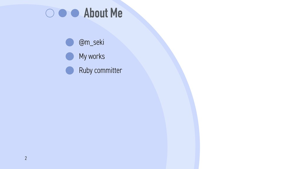 About Me @m_seki My works Ruby committer 2
