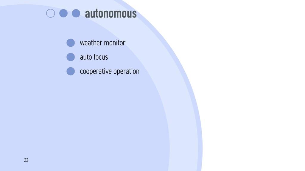 autonomous weather monitor auto focus cooperati...