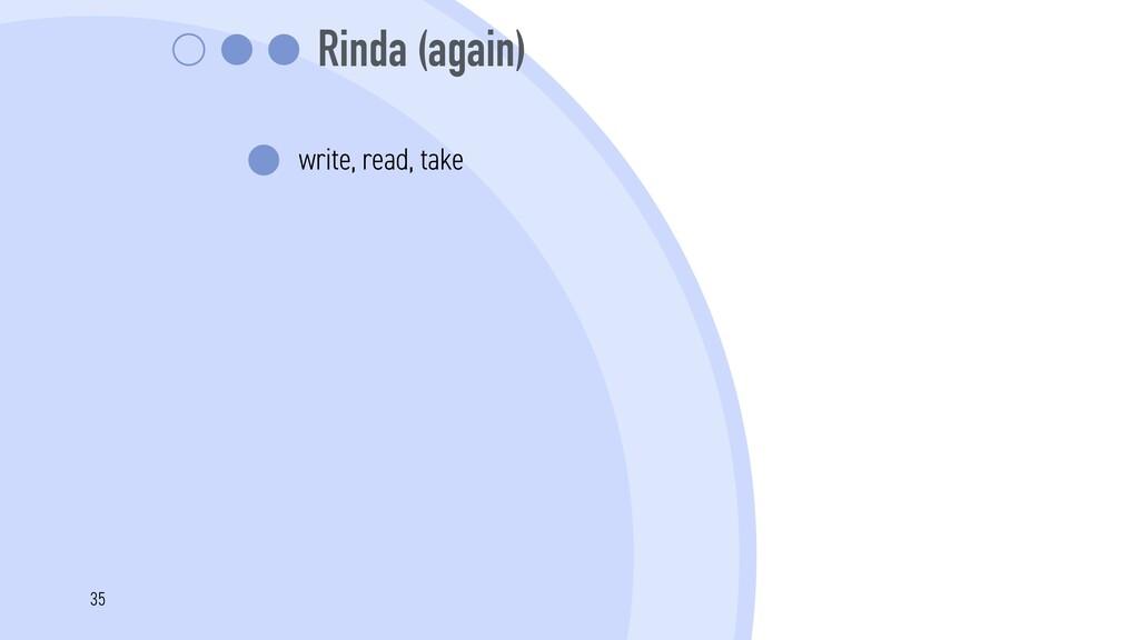Rinda (again) write, read, take 35