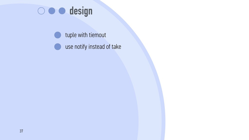 design tuple with tiemout use notify instead of...