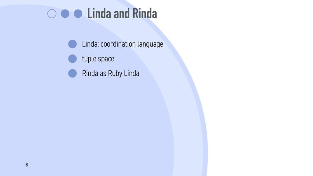 Linda and Rinda Linda: coordination language tu...
