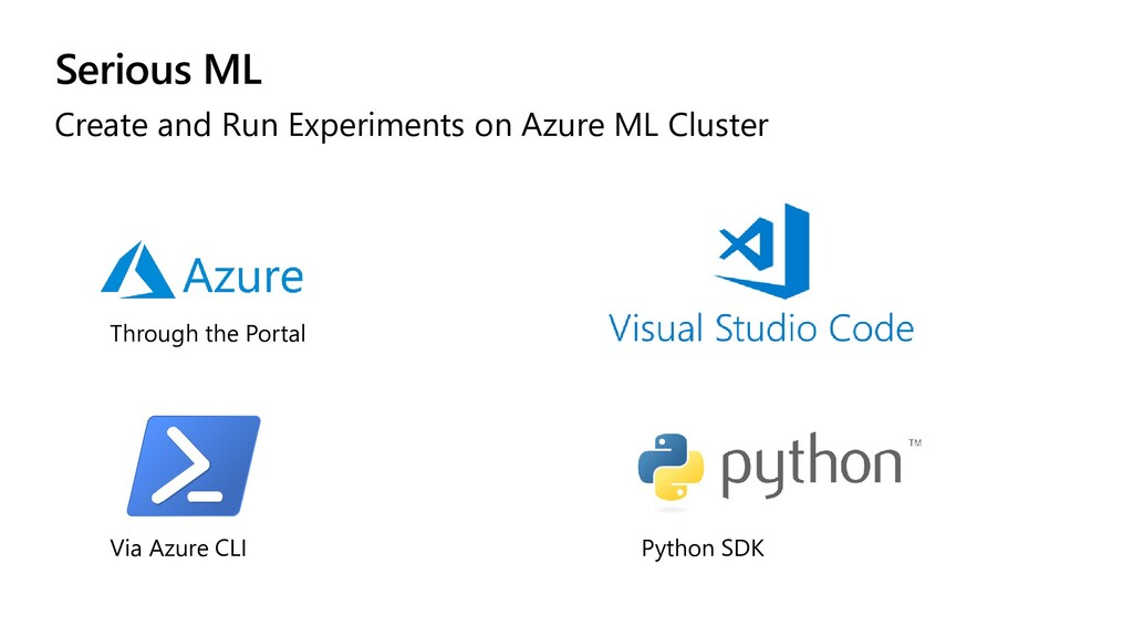 Serious ML Create and Run Experiments on Azure ...