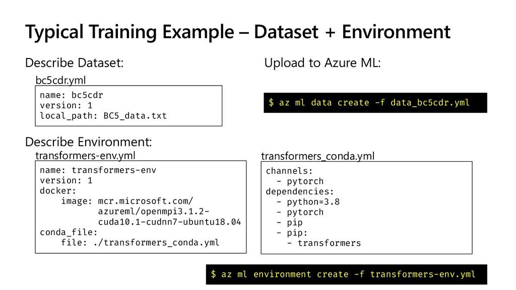 Typical Training Example – Dataset + Environmen...