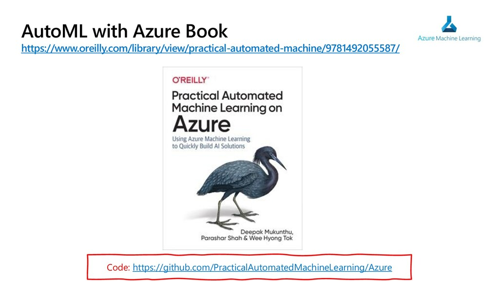 AutoML with Azure Book https://www.oreilly.com/...