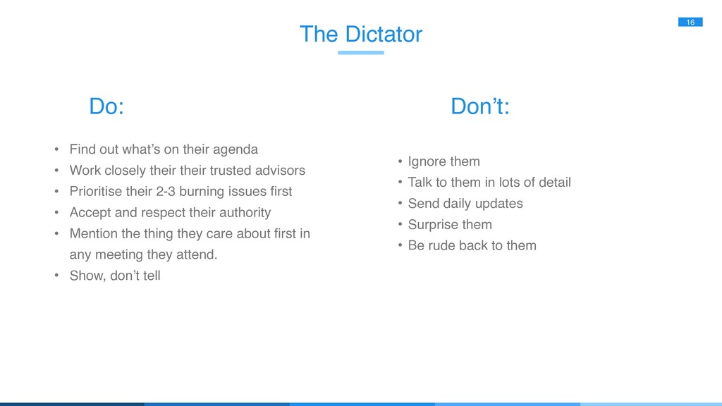 The Dictator 16 • Find out what's on their agen...