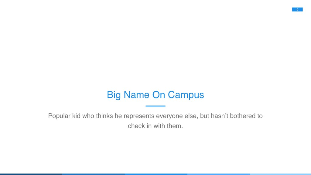 9 Big Name On Campus Popular kid who thinks he ...