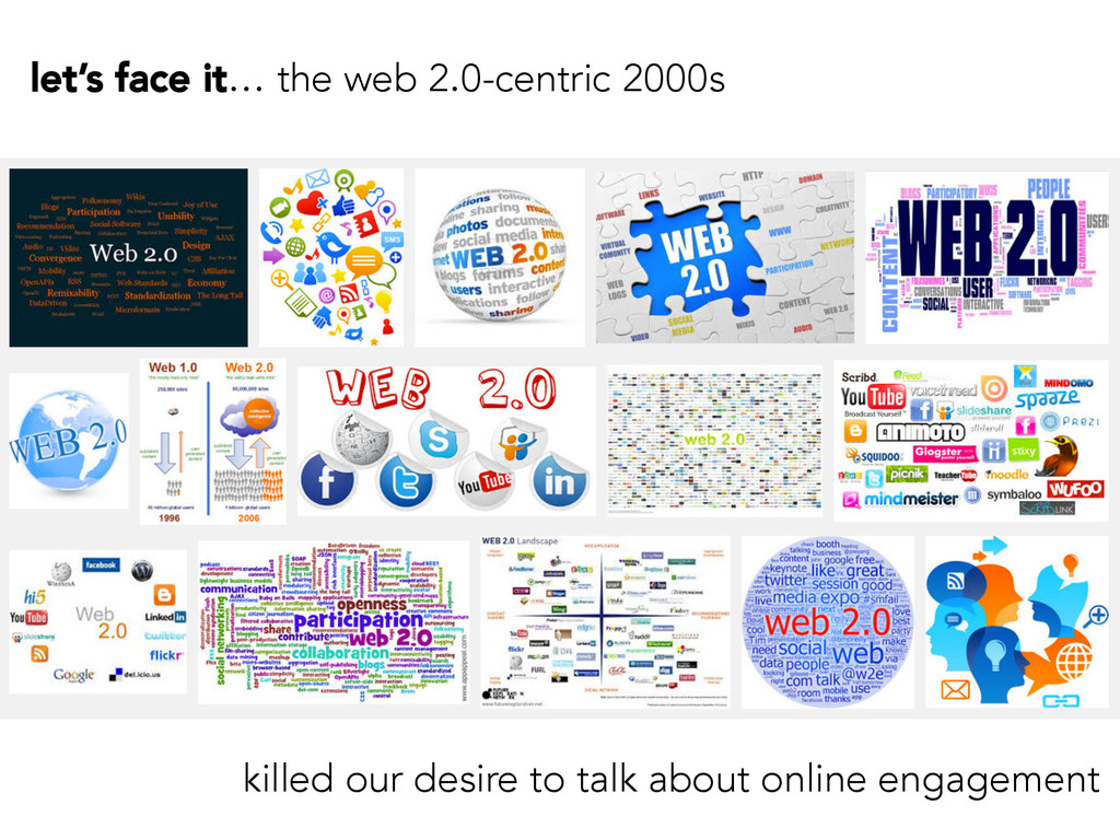 let's face it… the web 2.0-centric 2000s killed...