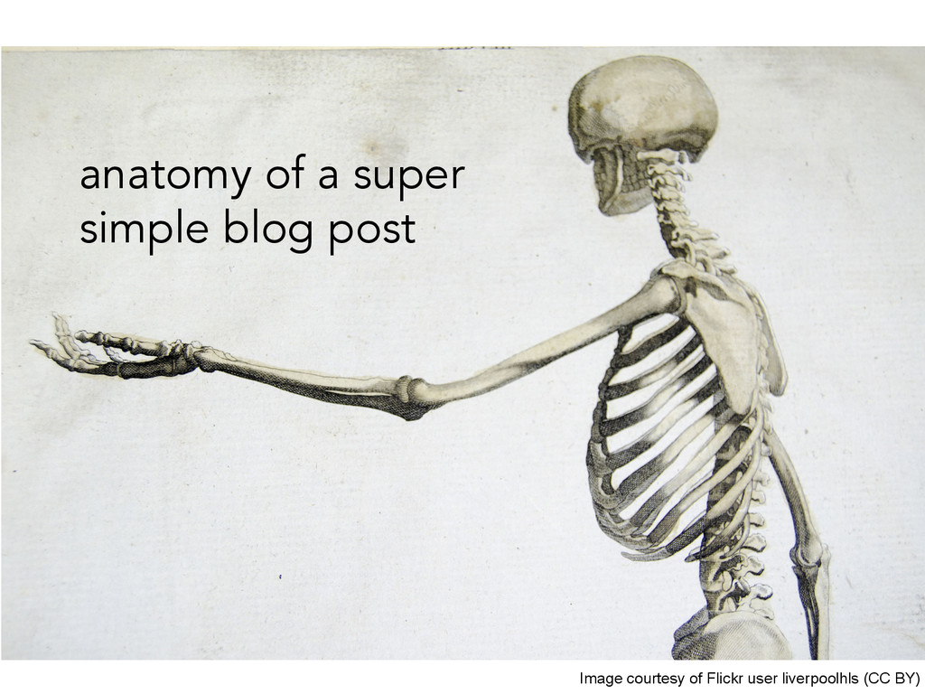 anatomy of a super simple blog post Image court...