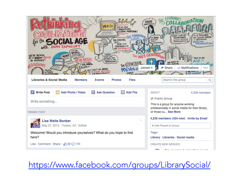 https://www.facebook.com/groups/LibrarySocial/