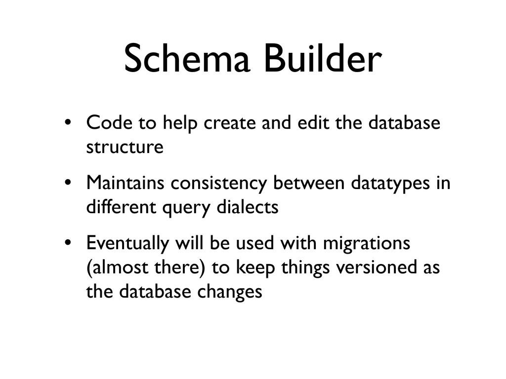 Schema Builder • Code to help create and edit t...