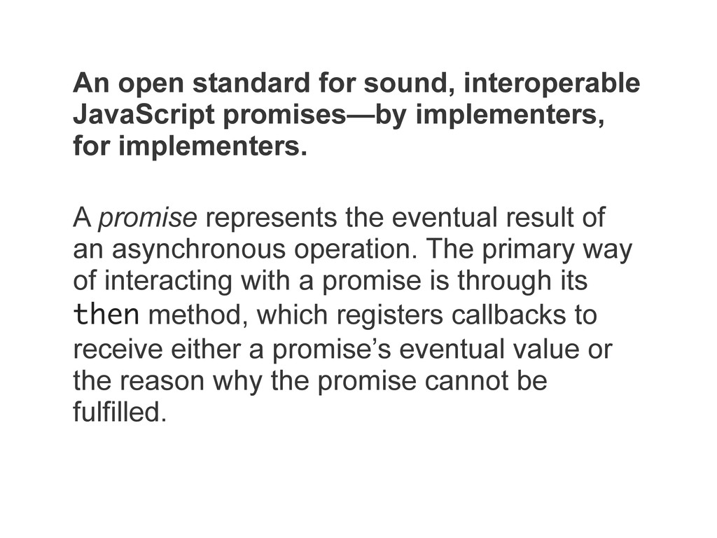 An open standard for sound, interoperable JavaS...