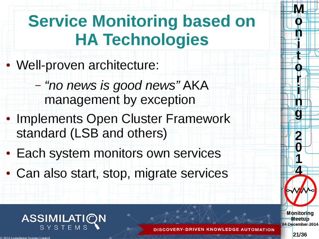 Monitoring Meetup 04 December 2014 21/36 M o n ...