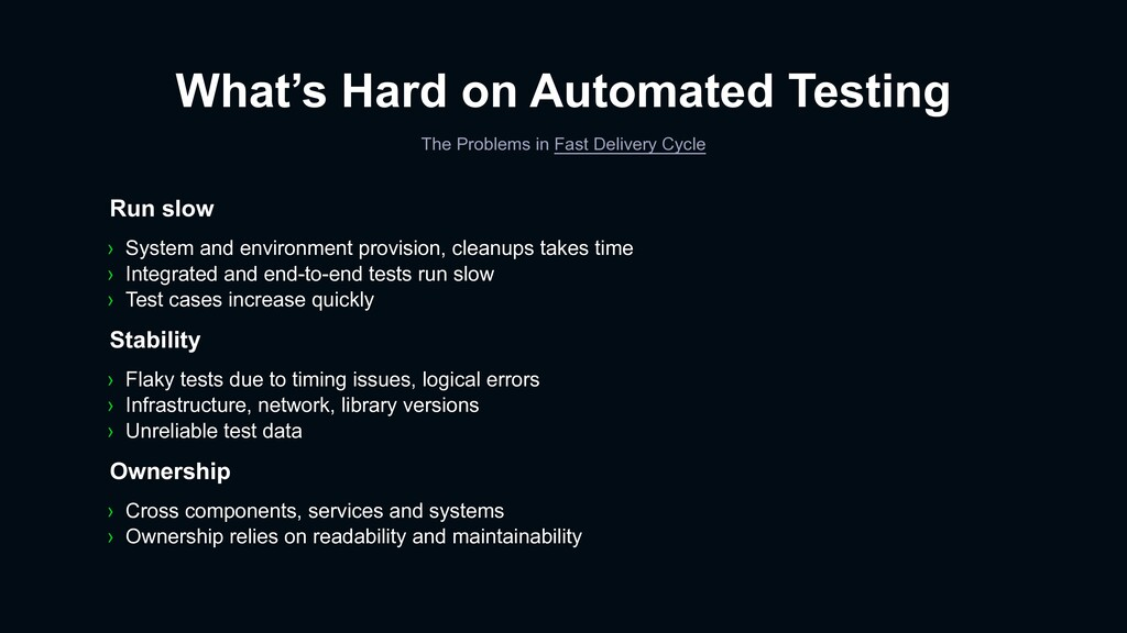 What's Hard on Automated Testing The Problems i...