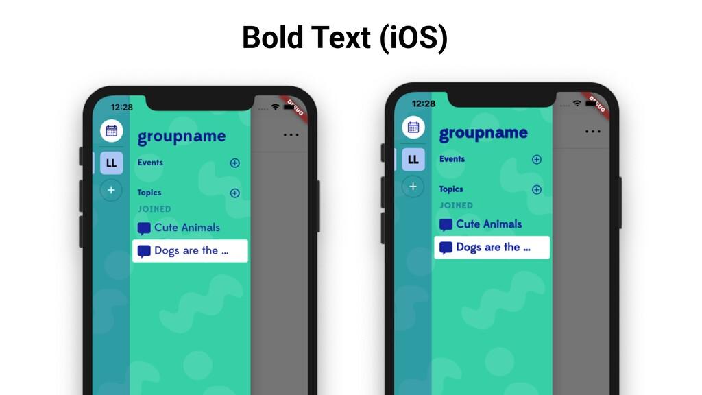 Bold Text (iOS)