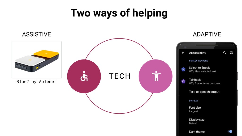 TECH ASSISTIVE ADAPTIVE Two ways of helping Blu...