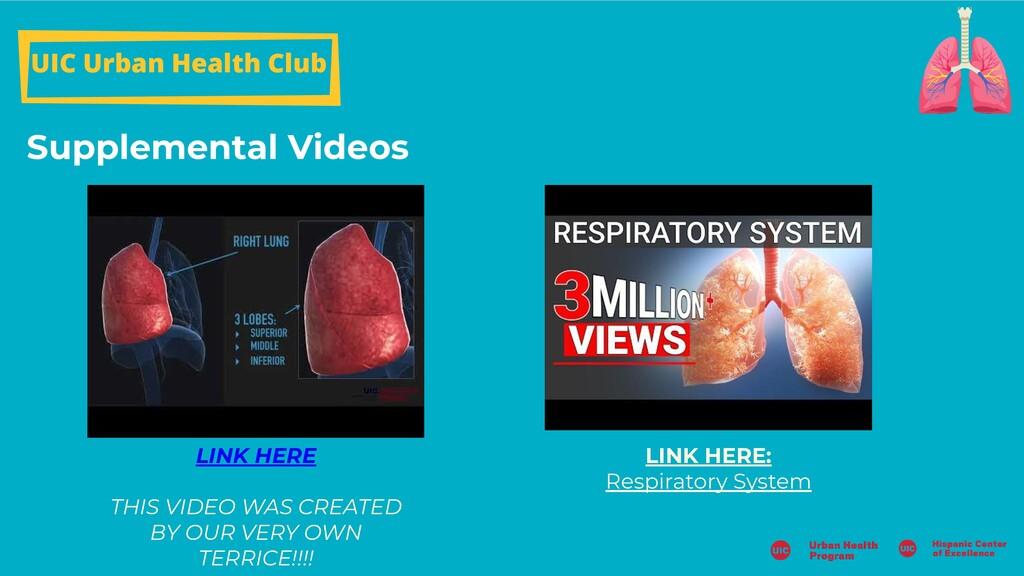 Supplemental Videos UIC Urban Health Club LINK ...