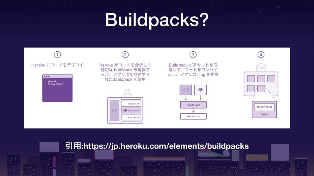 Buildpacks? Ҿ༻:https://jp.heroku.com/elements/b...