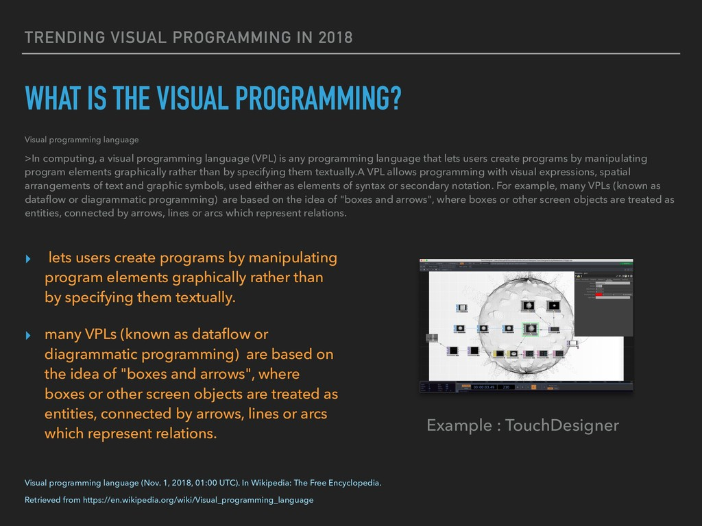 TRENDING VISUAL PROGRAMMING IN 2018 WHAT IS THE...