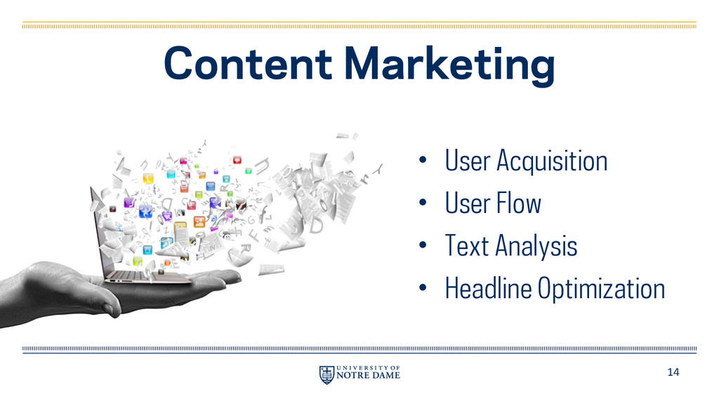 14 Content Marketing • User Acquisition • User ...