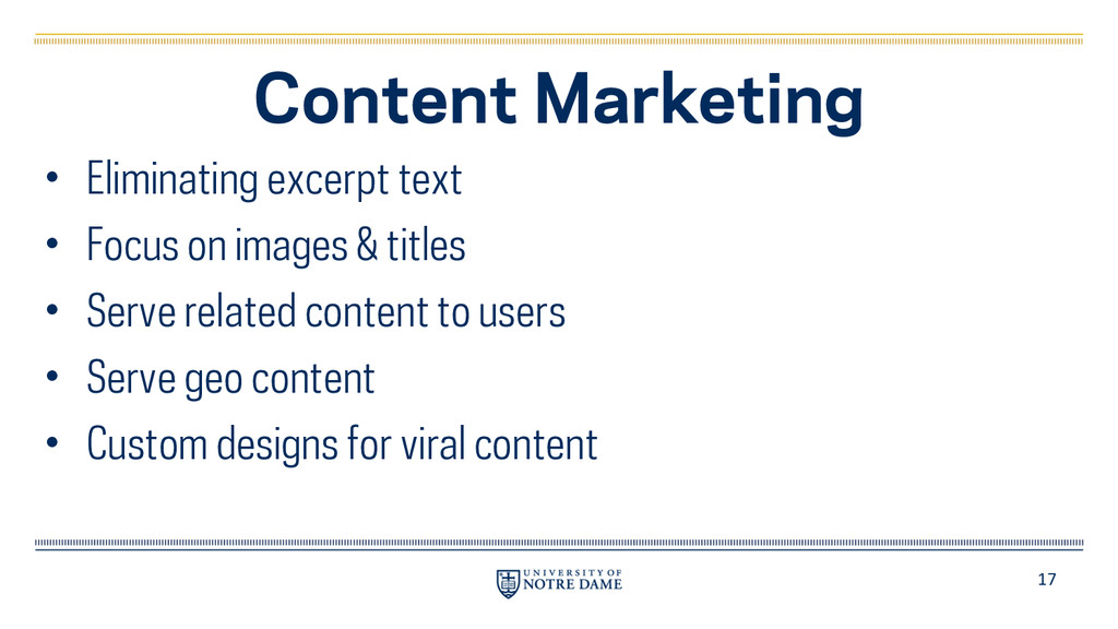 17 Content Marketing • Eliminating excerpt text...