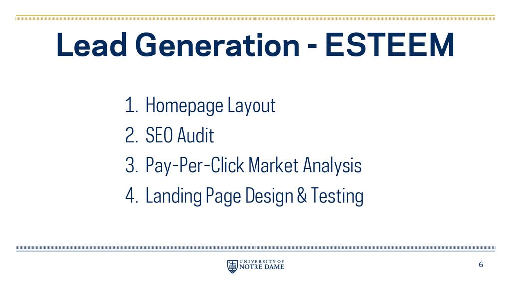 6 Lead Generation - ESTEEM 1. Homepage Layout 2...