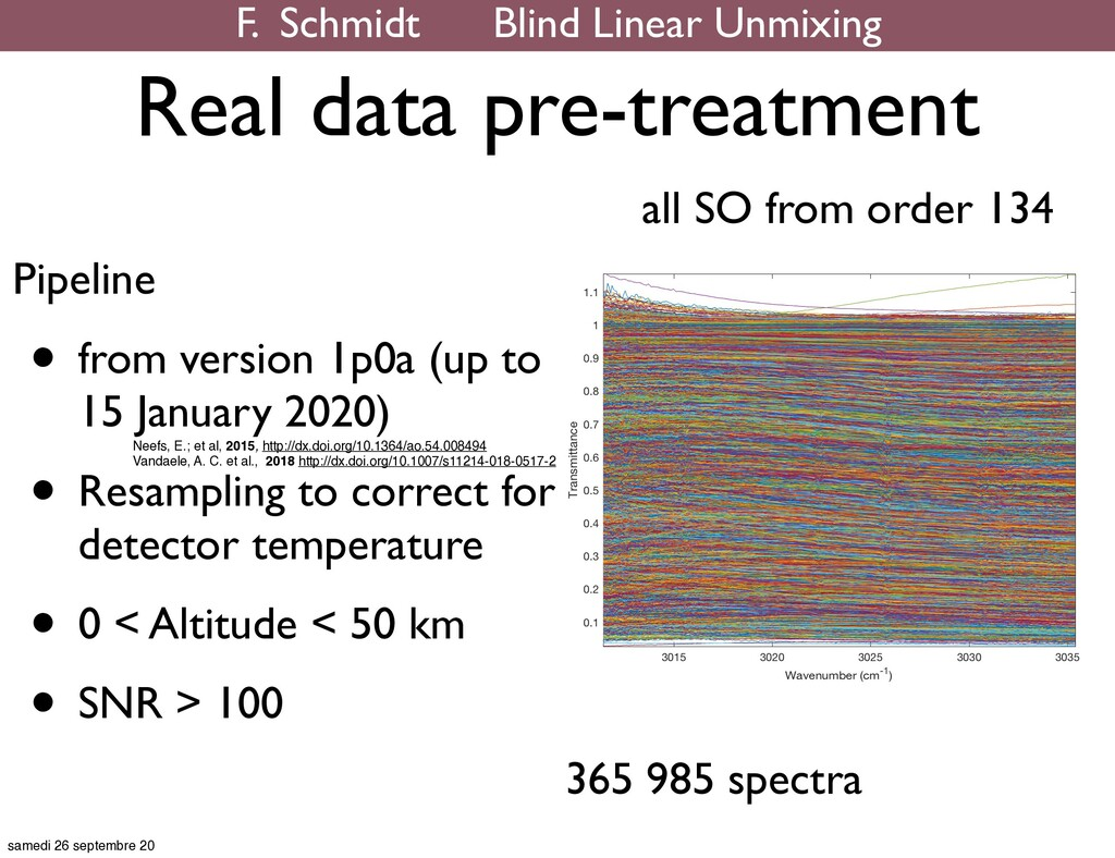 Real data pre-treatment all SO from order 134 P...