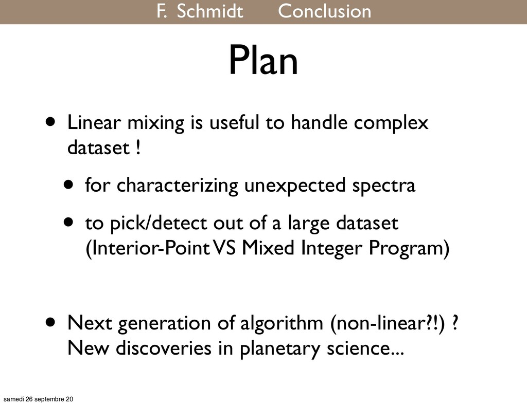 Plan • Linear mixing is useful to handle comple...