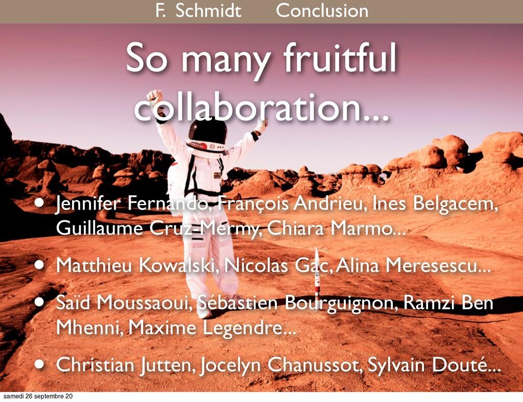 So many fruitful collaboration... • Jennifer Fe...
