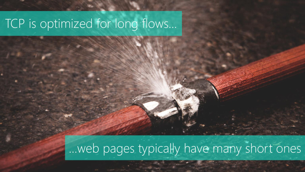 TCP is optimized for long flows… …web pages typ...