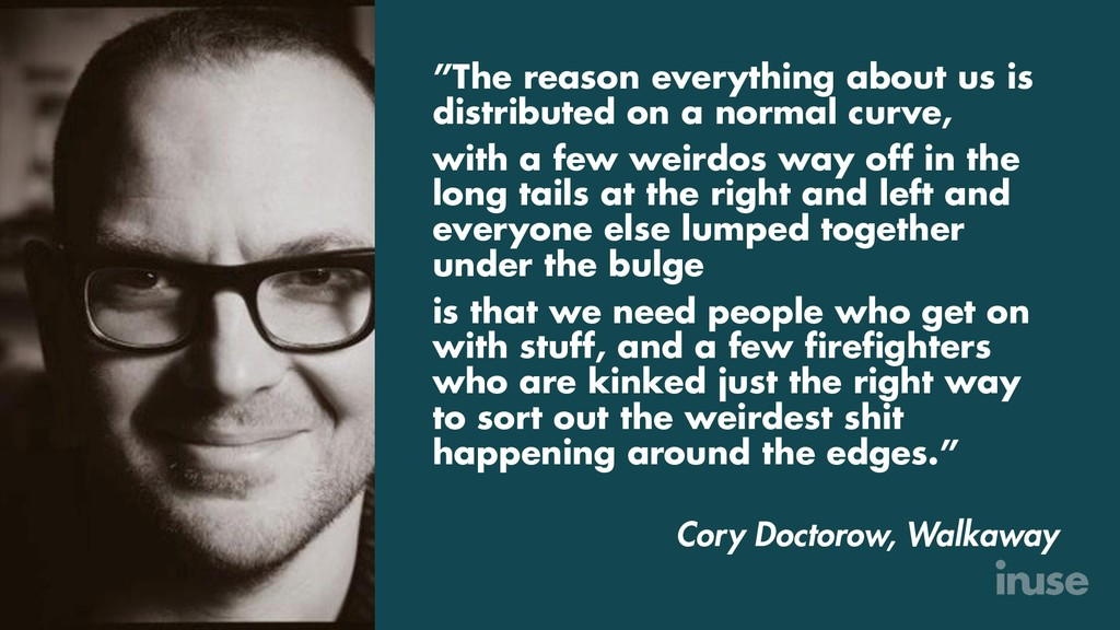 """The reason everything about us is distributed ..."