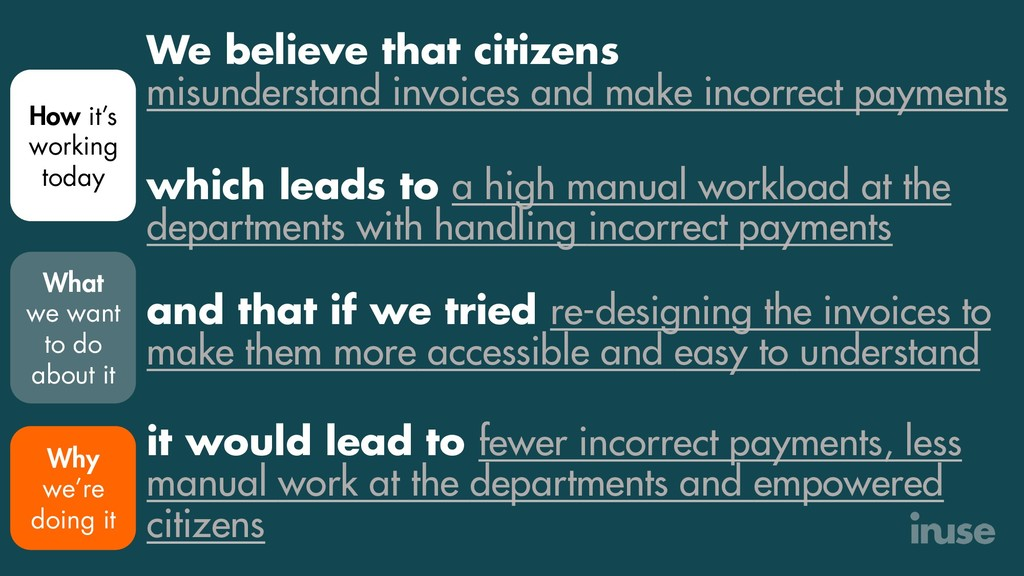 We believe that citizens misunderstand invoices...