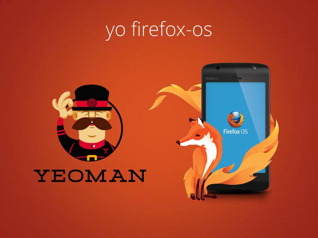 yo firefox-os