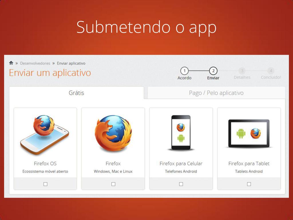 Submetendo o app