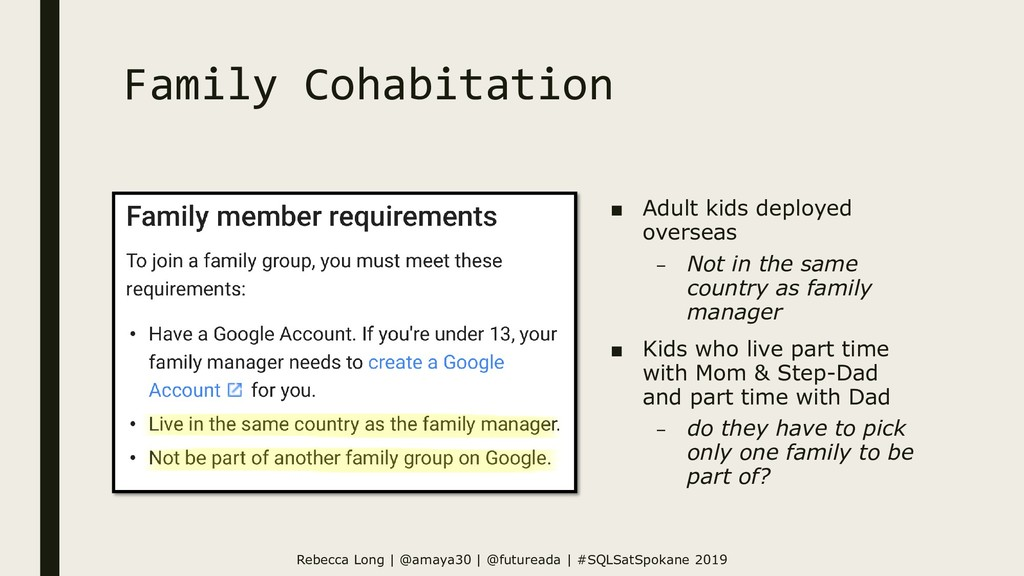 Family Cohabitation ■ Adult kids deployed overs...