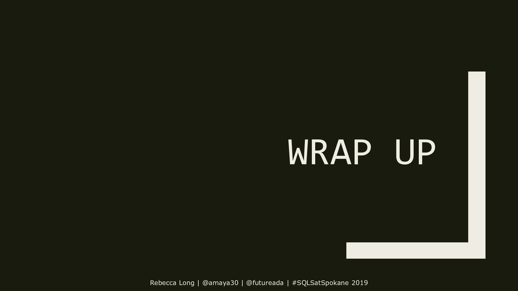 WRAP UP Rebecca Long | @amaya30 | @futureada | ...