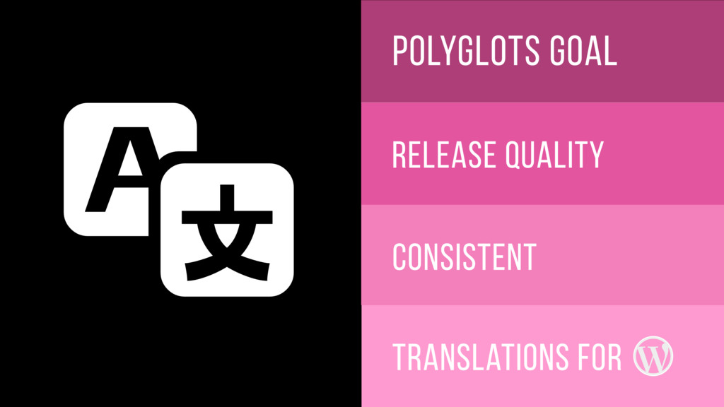 polyglots goal release quality consistent Trans...