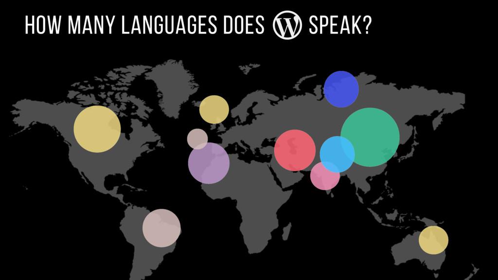 how many languages does speak?