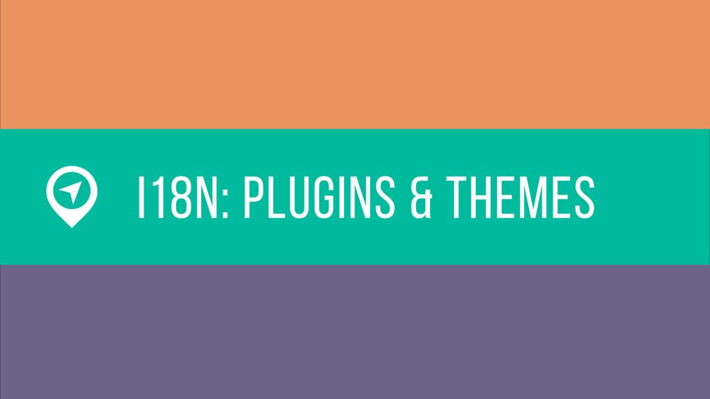 i18n: plugins & themes