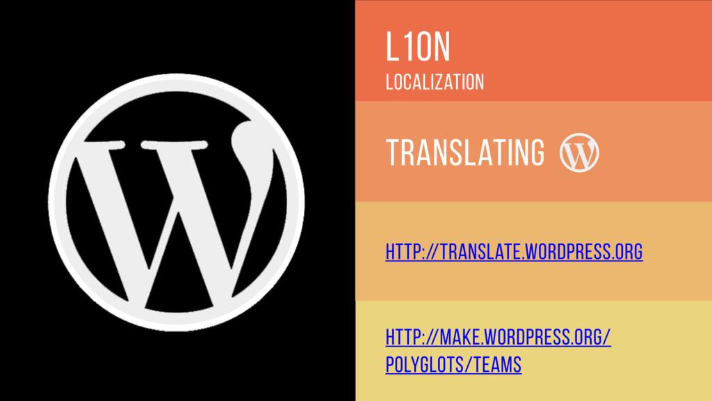l10n Localization Translating http://translate....
