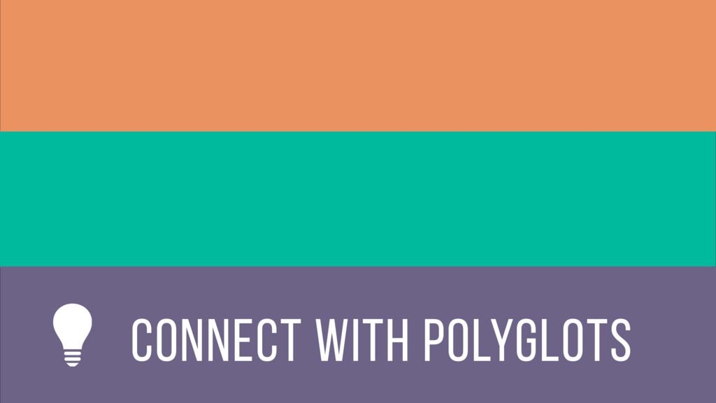 connect with polyglots