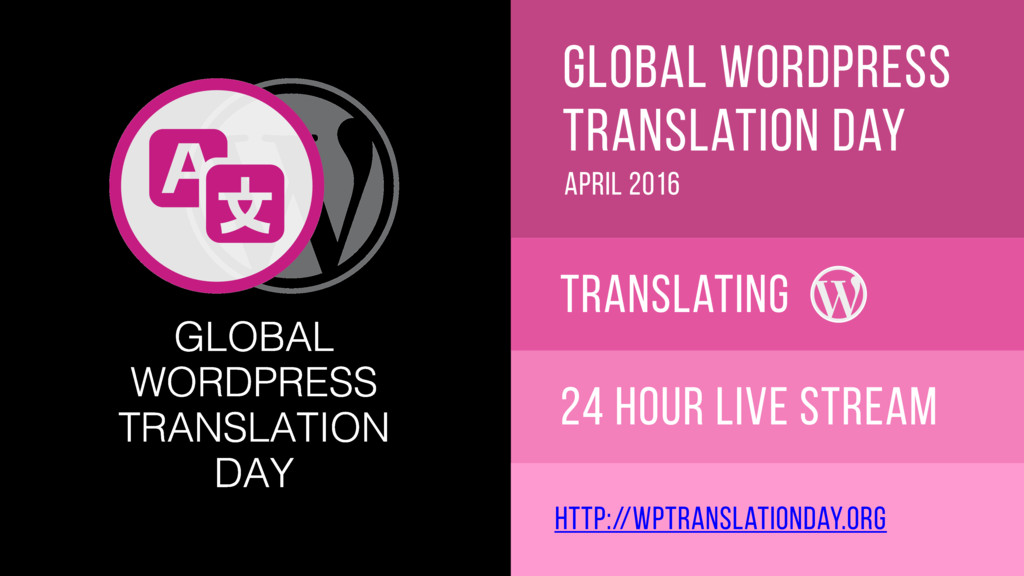 global wordpress translation day april 2016 Tra...