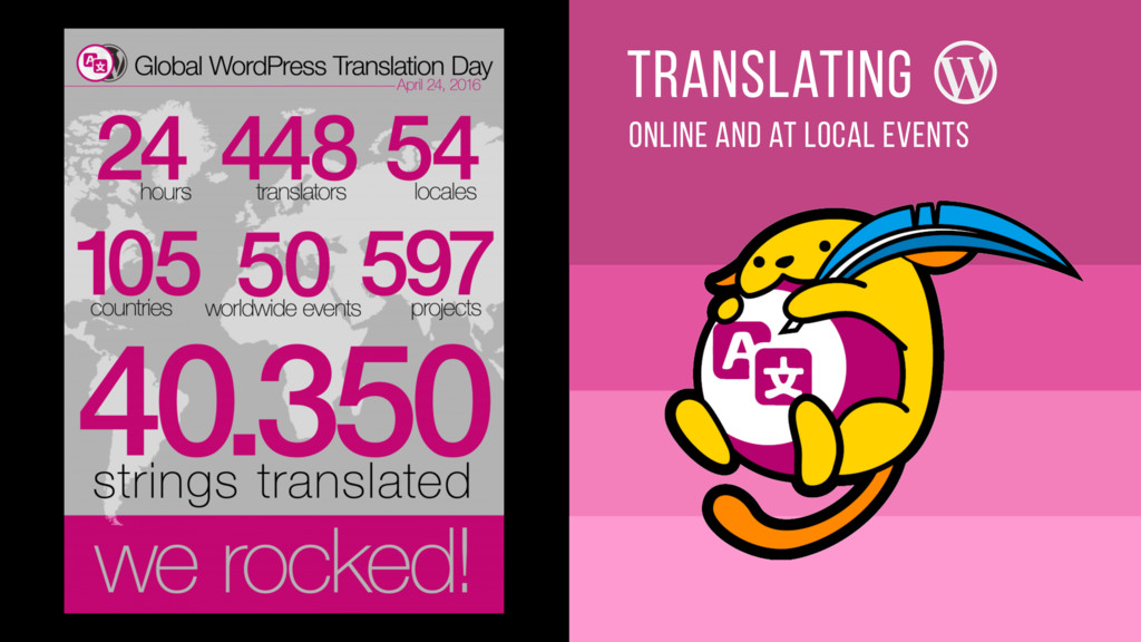 online and aT local events translating