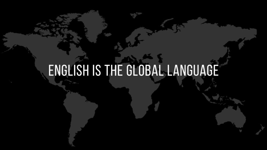 english is the global language