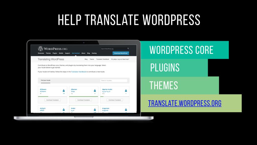 help translate wordpress Themes Wordpress core ...