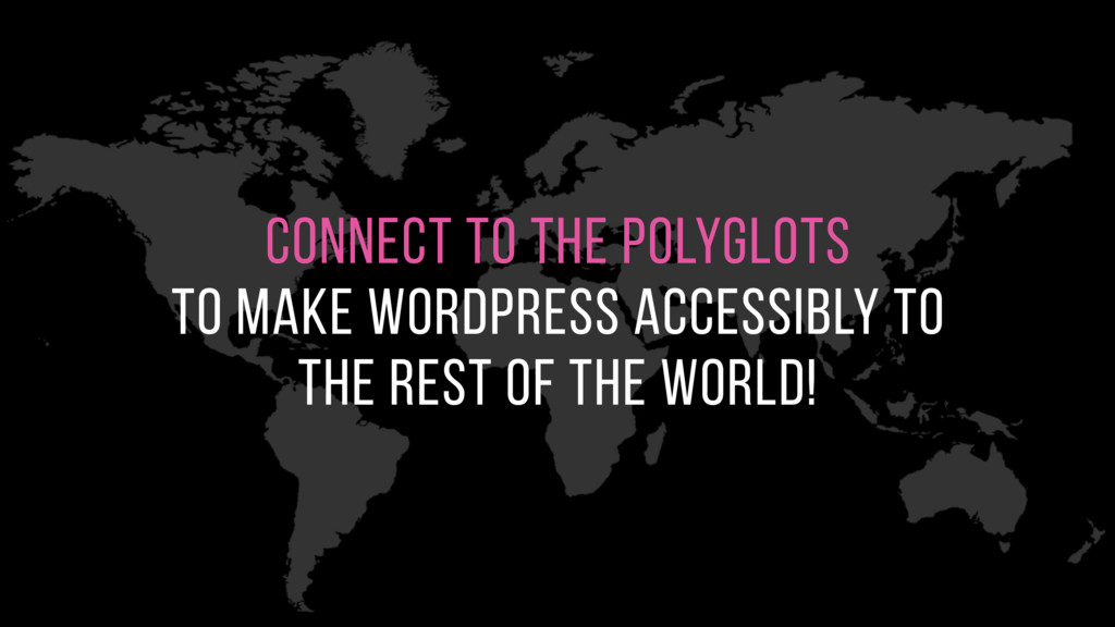 connect to the polyglots to make WordPress acc...