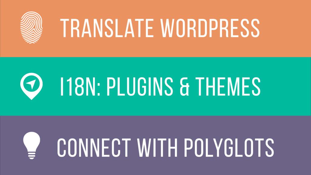 i18n: plugins & themes translate wordpress conn...