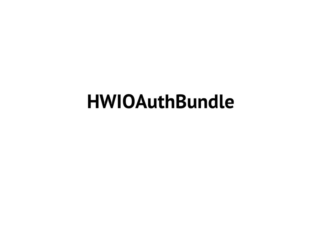 HWIOAuthBundle