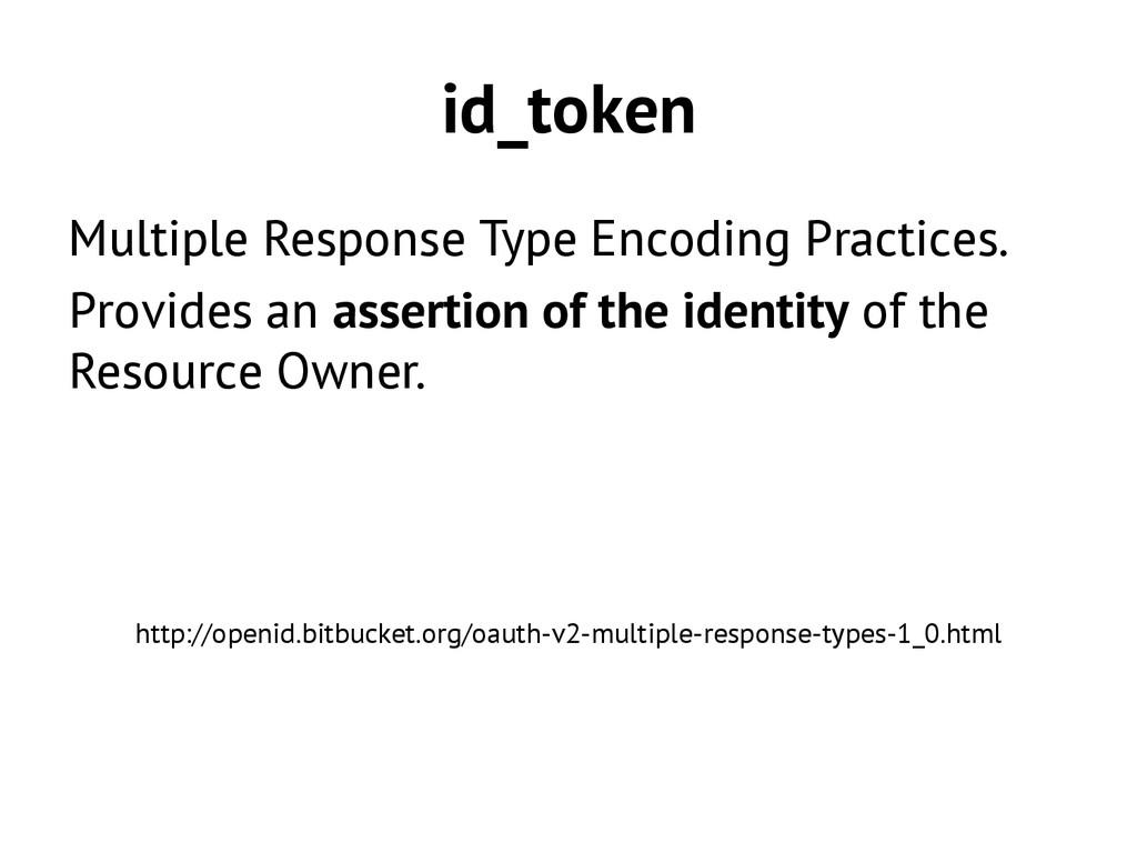 id_token Multiple Response Type Encoding Practi...