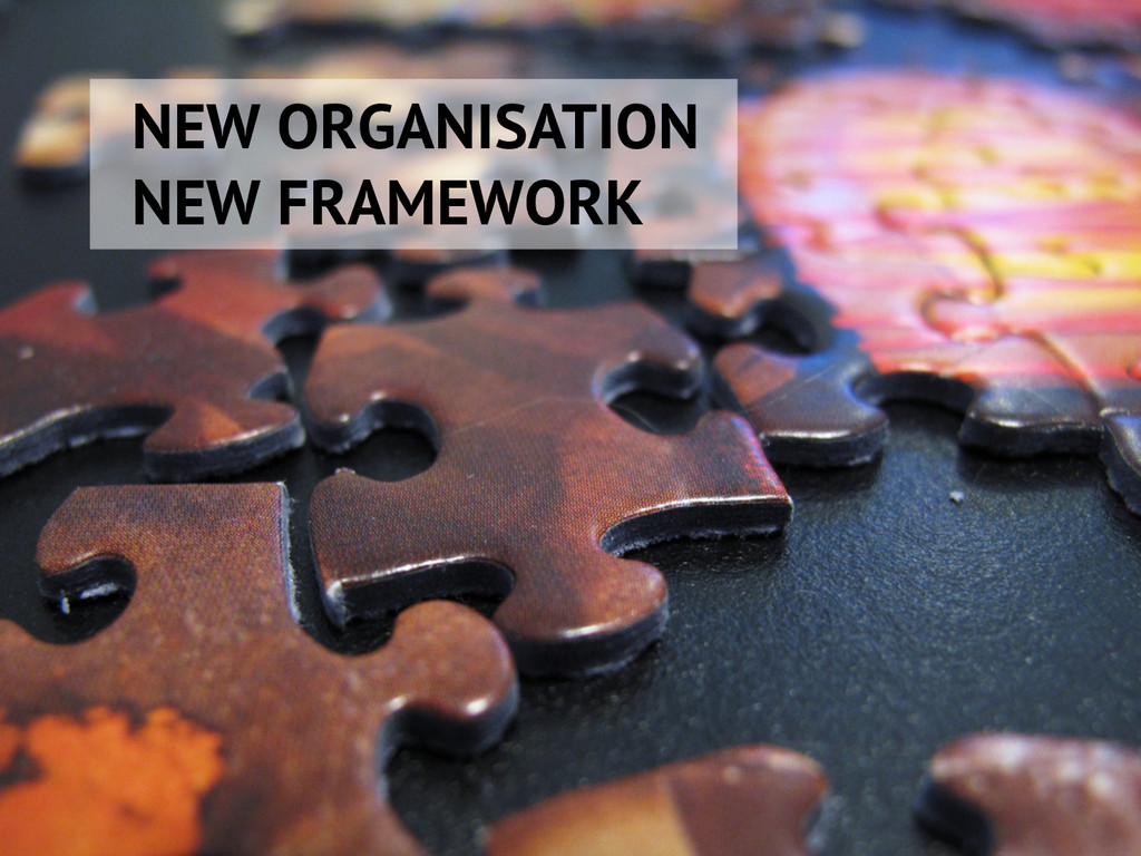 NEW ORGANISATION NEW FRAMEWORK