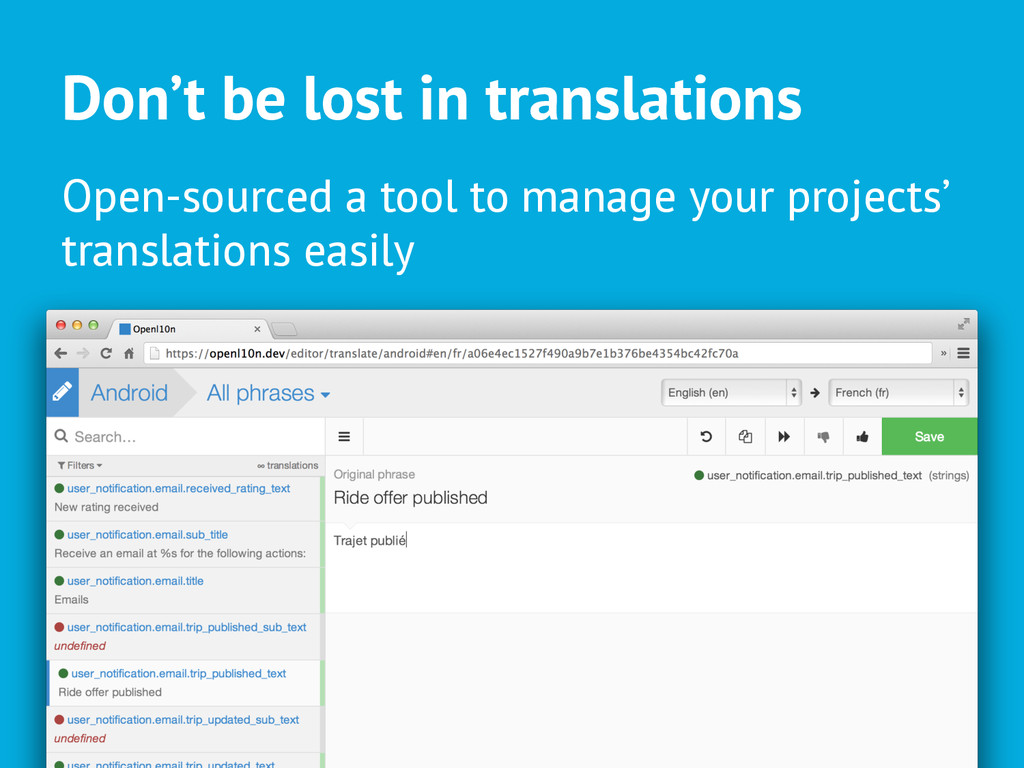 Don't be lost in translations Open-sourced a to...